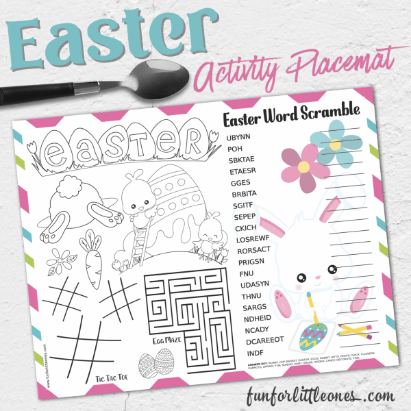 printable easter activity worksheet