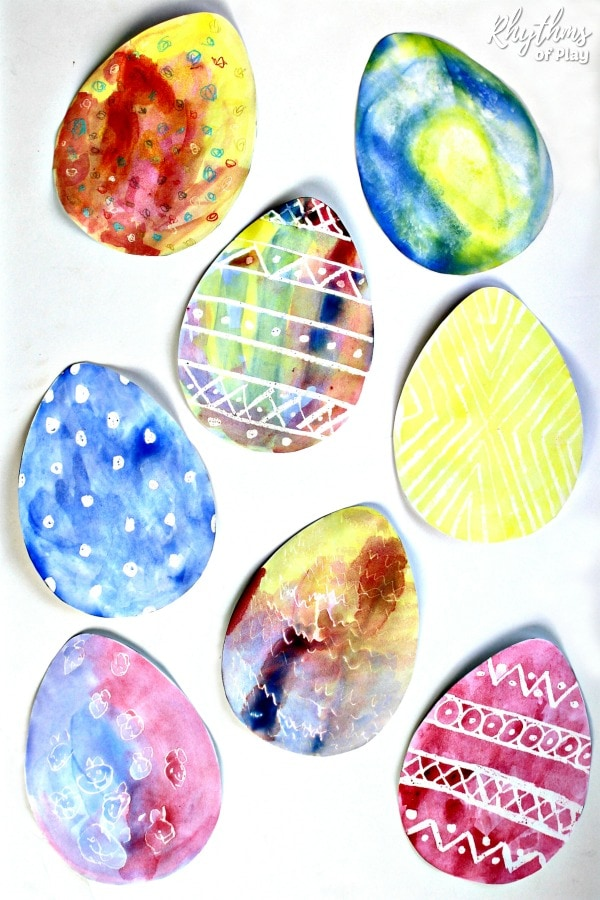 Watercolor Resist Easter Egg Project