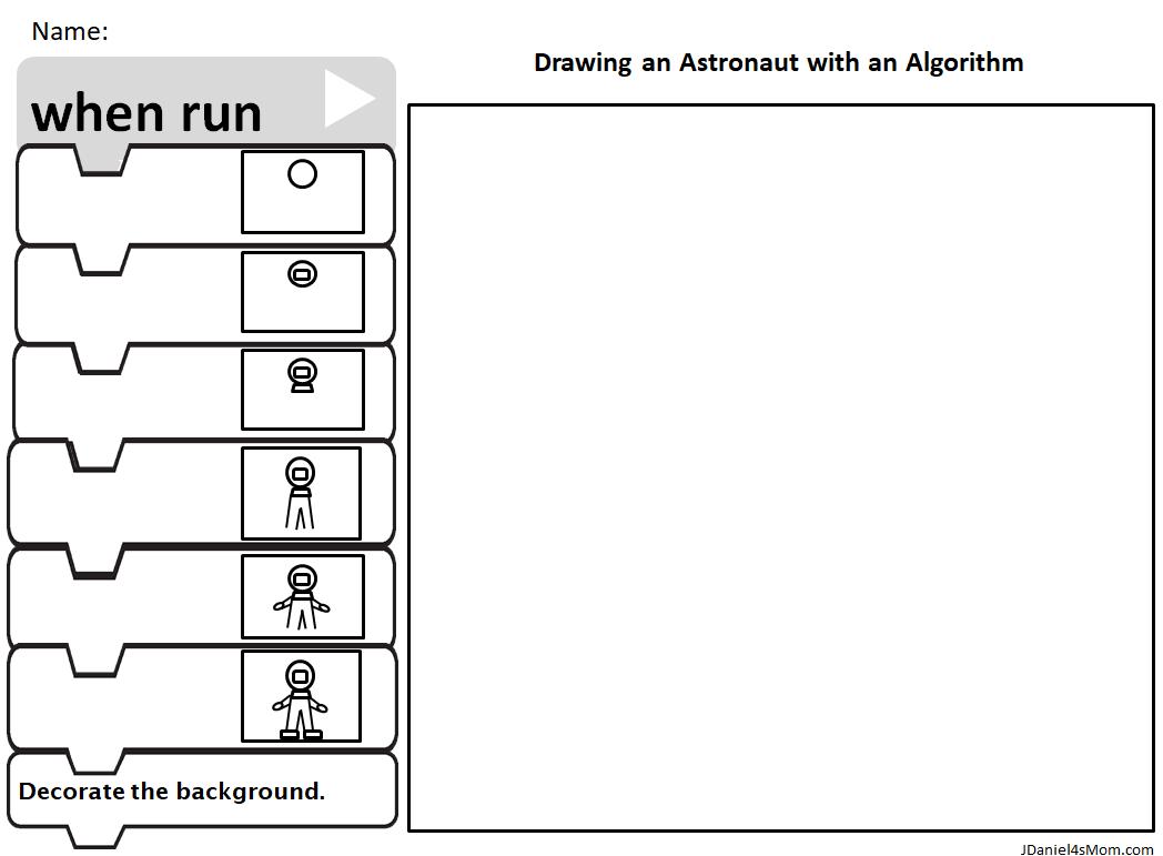 Draw an Astronaut with an Algorithm