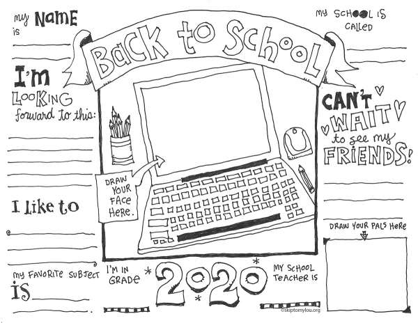 - First Day Of School Coloring Pages (with Virtual Options) – Lesson Plans
