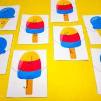 Ice Cream Letter Matching Printables