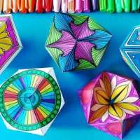Kaleidocycles: Paper Toys to Color and Fold