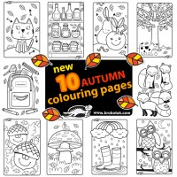 10 Cute Coloring Pages for Fall