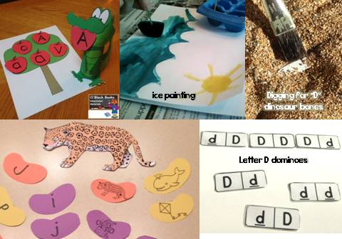 alphabet letter unit activities