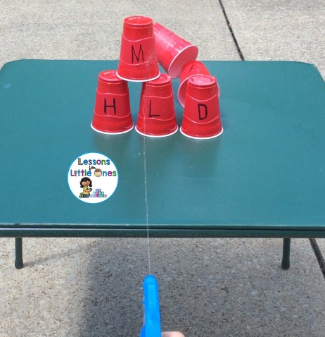 squirting cups learning activity