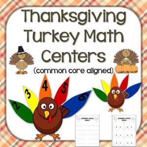 Thanksgiving turkey math center