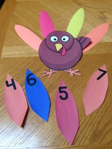 Thanksgiving turkey number counting