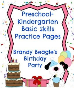 preschool kindergarten skills practice