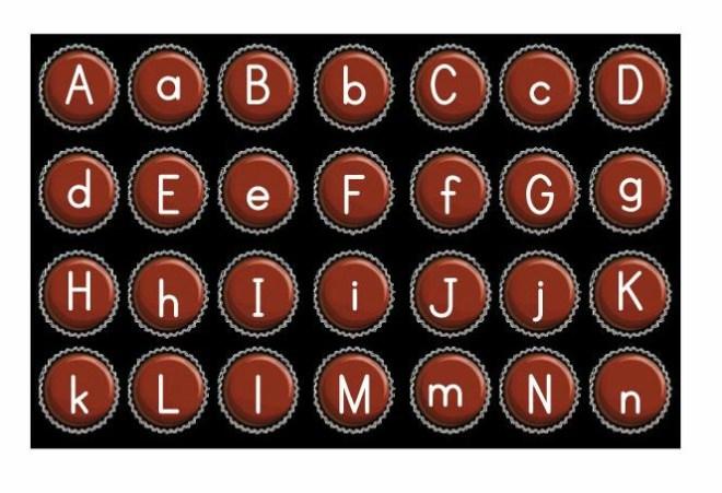 Valentine's Day alphabet letter chocolates