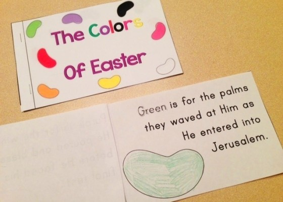 The Colors of Easter Jelly Bean Poem Student book