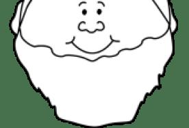 leprechaun face black and white