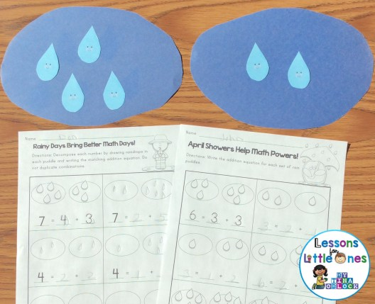 decomposing numbers math center and differentiated practice pages