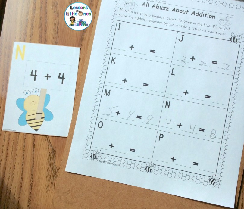 differentiated addition to 10 practice around the room activity