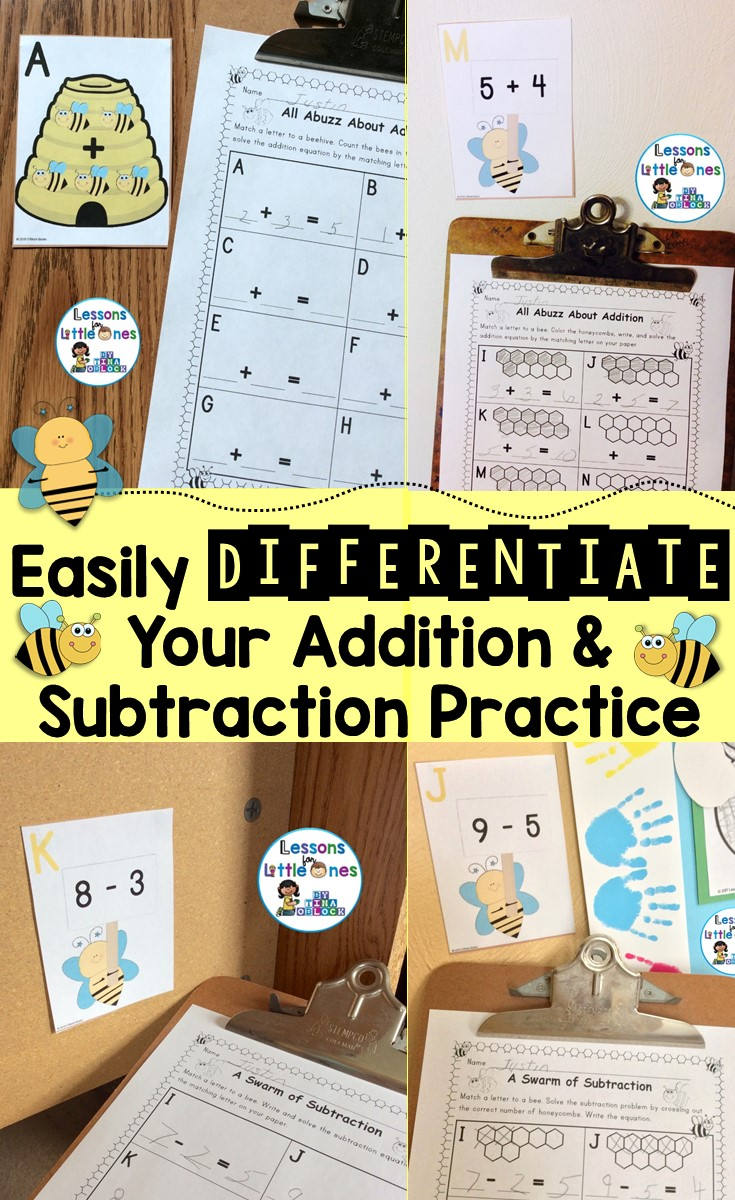 Easily differentiate your addition and subtraction practice.