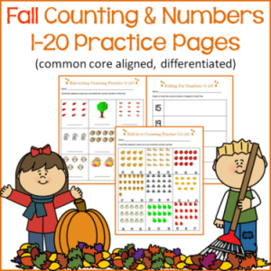 fall counting and numbers