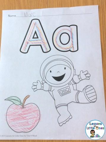 alphabet letter practice page