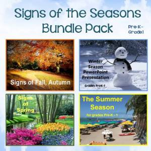 Signs of the Four Seasons Bundle Pack (Spring, Summer, Winter, Fall)