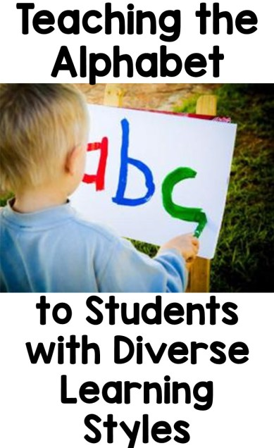 Teaching the Alphabet to Students with Diverse Learning Styles