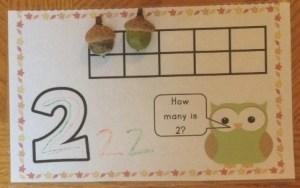 fall numbers center mat