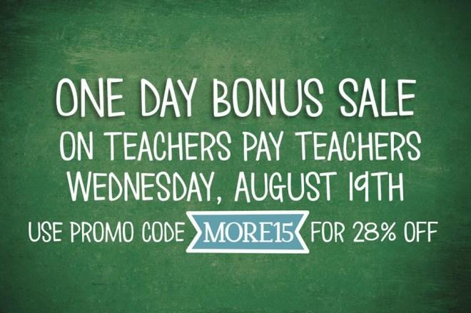 TPT bonus sale day