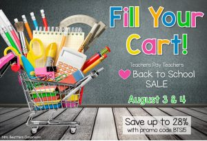 TPT Back to School Sale