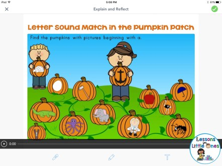 phonics practice with Seesaw app