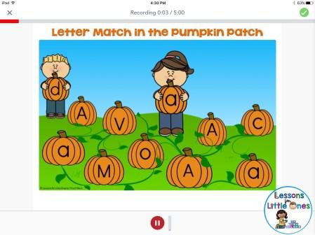 alphabet letter practice Seesaw app