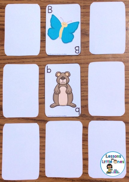 alphabet concentration card game uppercase and lowercase letters
