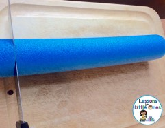 how to make a card holder for alphabet old maid from a pool noodle