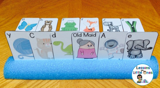 differentiated alphabet old maid cards uppercase and lowercase