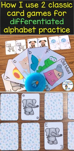 How I use 2 classic card games for differentiated alphabet practice