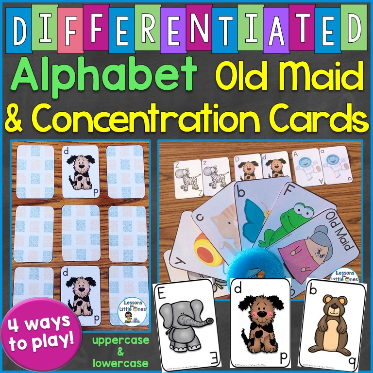 Differentiated Alphabet Old Maid and Concentration Cards