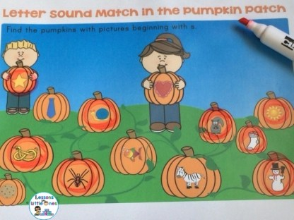 pumpkin patch letter sound match