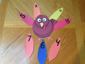 Thanksgiving turkey addition subtraction