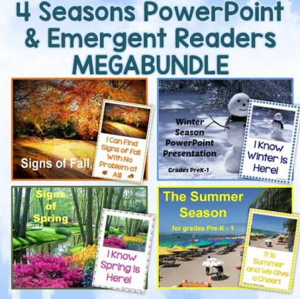 Seasons PowerPoint & Emergent Reader MegaBundle