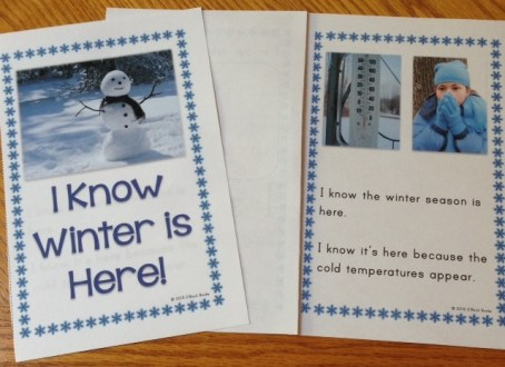 signs of winter emergent reader