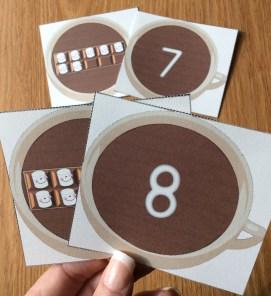 winter math Go Fish cards