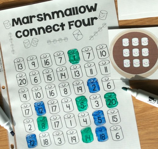 winter math game numbers, counting