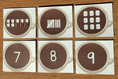 winter math cards assessment