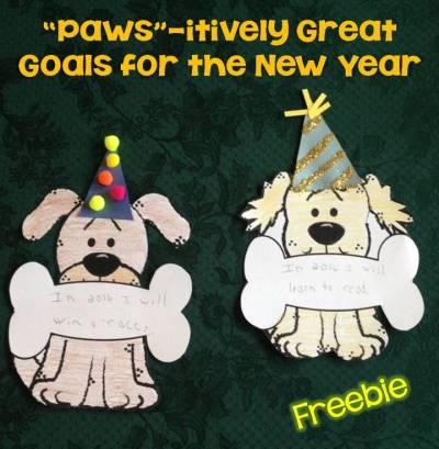 free New Year's craft, bulletin board