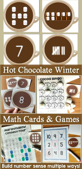 winter math cards & games