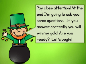 teaching about St. Patrick's Day