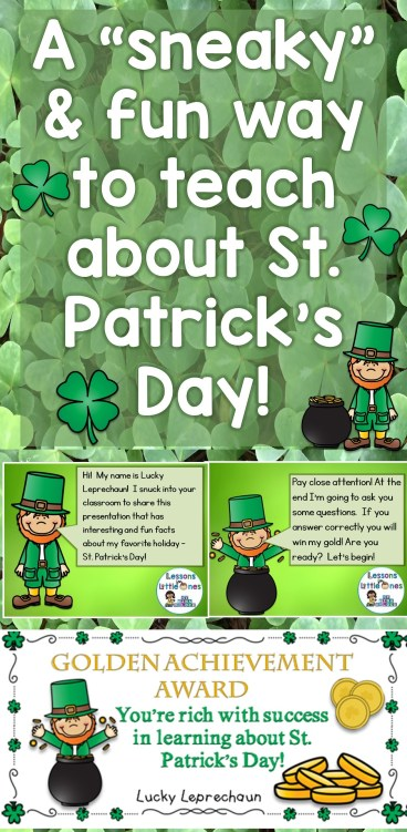 """A """"sneaky"""" and fun way to teach about St. Patrick's Day!"""