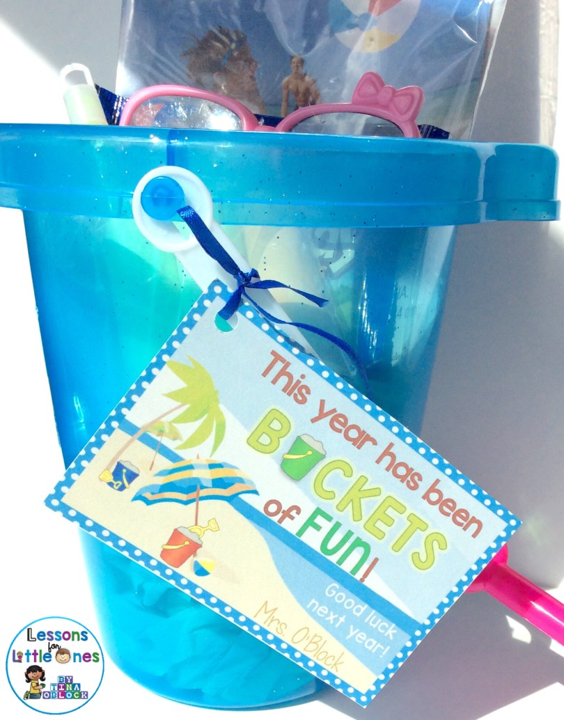 End of the school year student gift - sand bucket