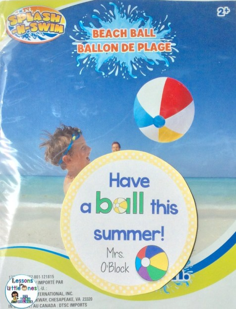End of the school year student gift - beach ball