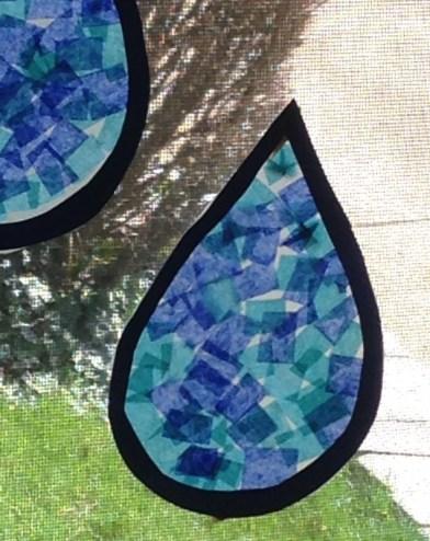 raindrop suncatcher art project