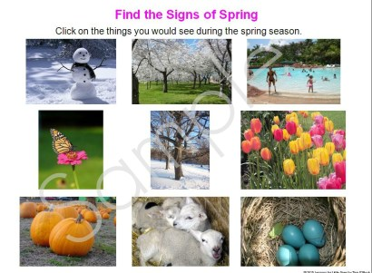 find signs of spring season