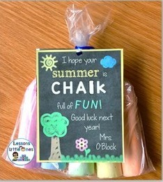 Sidewalk Chalk end of the school year student gift