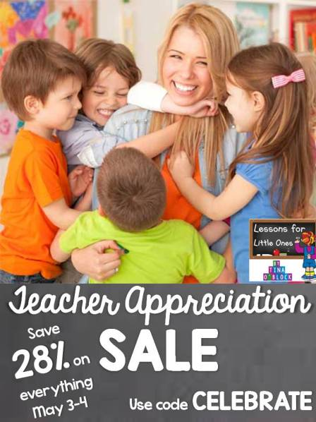 Teachers Pay Teachers Teacher Appreciation Sale Lessons for Little Ones