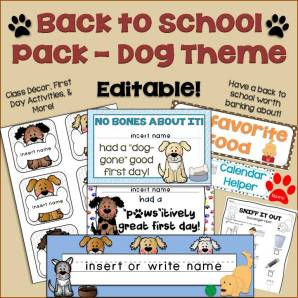 Dog Back to School Pack